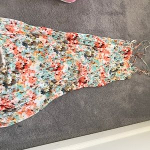 Floral max dress-strappy. Can be used as coverup!